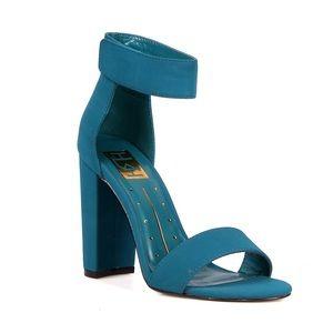 Shoes - Teal Block Heels